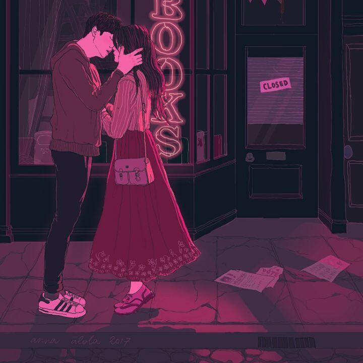 愛是深深一吻代替講話:插畫師Anna以最真摯的吻告訴你——短暫一吻已是愛情最美的瞬間。 – GirlsMood 女生感覺