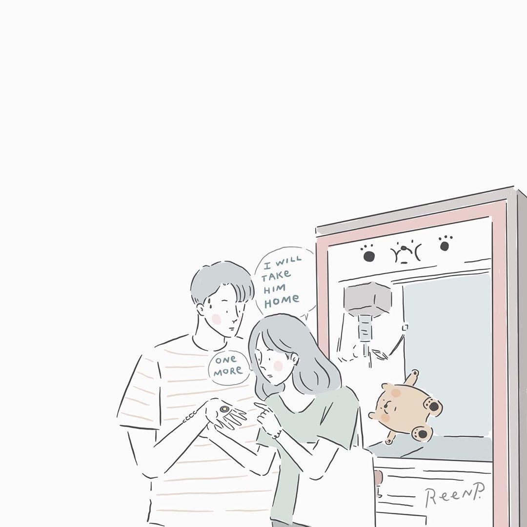 「渴望我能永遠的保護你」:泰國插畫師描繪10個真正寵女友的男友日常。有沒有令你想起你的他? – GirlsMood ...