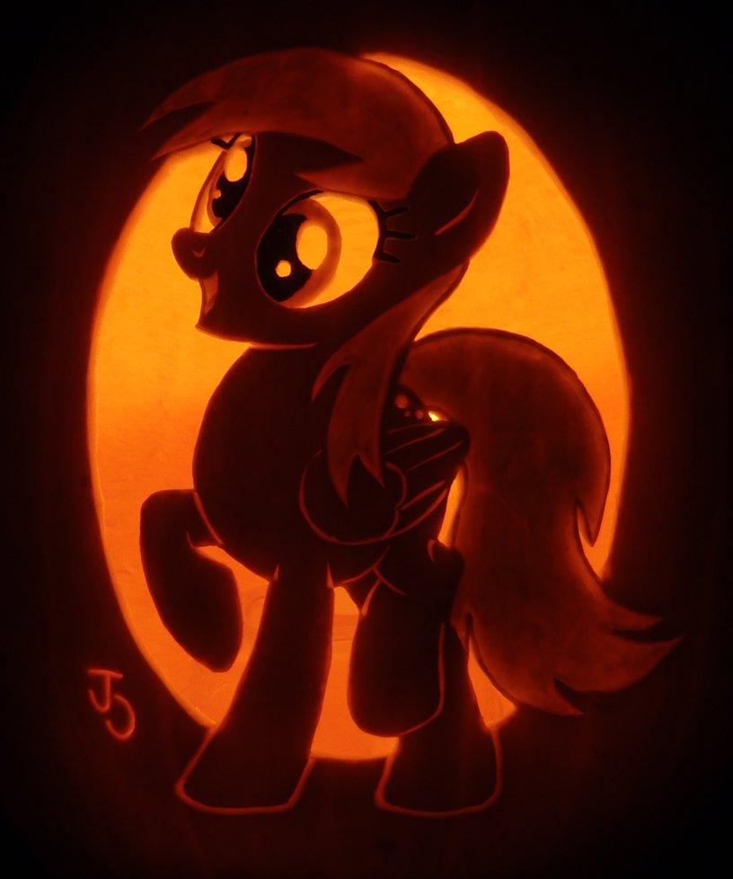 Derpy hooves pumpkin by johwee.deviantart.com