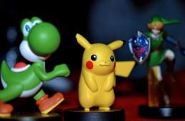 Amiibo Figurines: Yoshi, Pikachu and Link. Photo © Catherine Smith-Desbiens / Girls on Games
