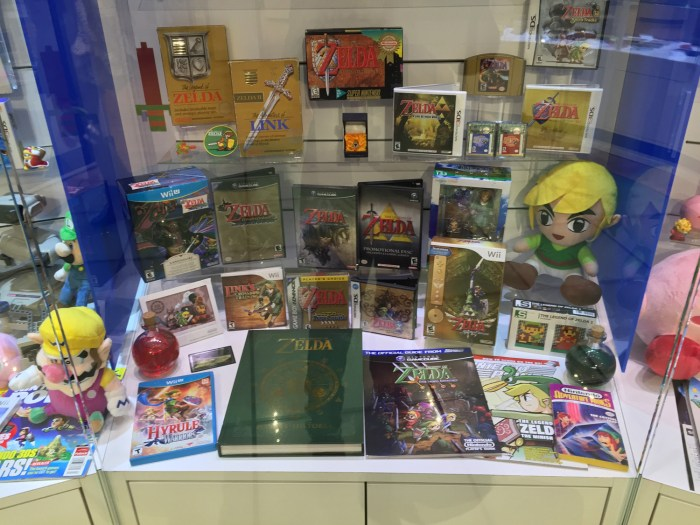 The Legend of Zelda display at the Nintendo World Store in NYC © Leah Jewer / Girls on Games