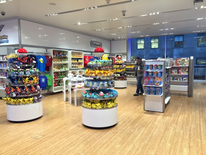 Second floor at the Nintendo World Store in NYC. Lots of plushies! © Leah Jewer / Girls on Games