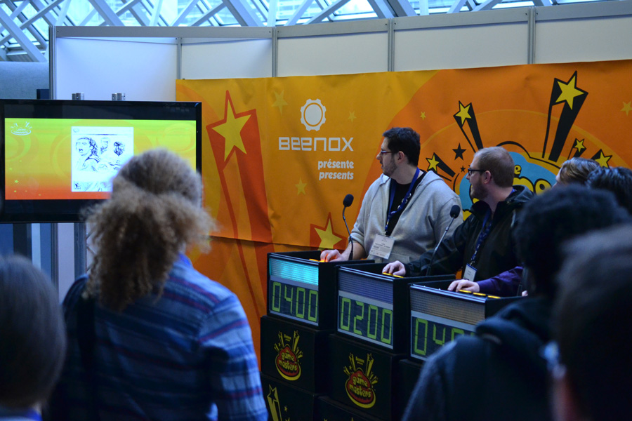 "The Beenox ""Game Masters"" trivia game show at MIGS © Catherine Smith-Desbiens / Girls on Games"