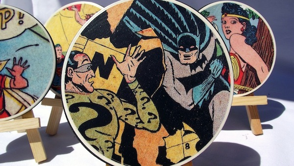 DIY comic book coasters by Mod Podge Rocks Blog