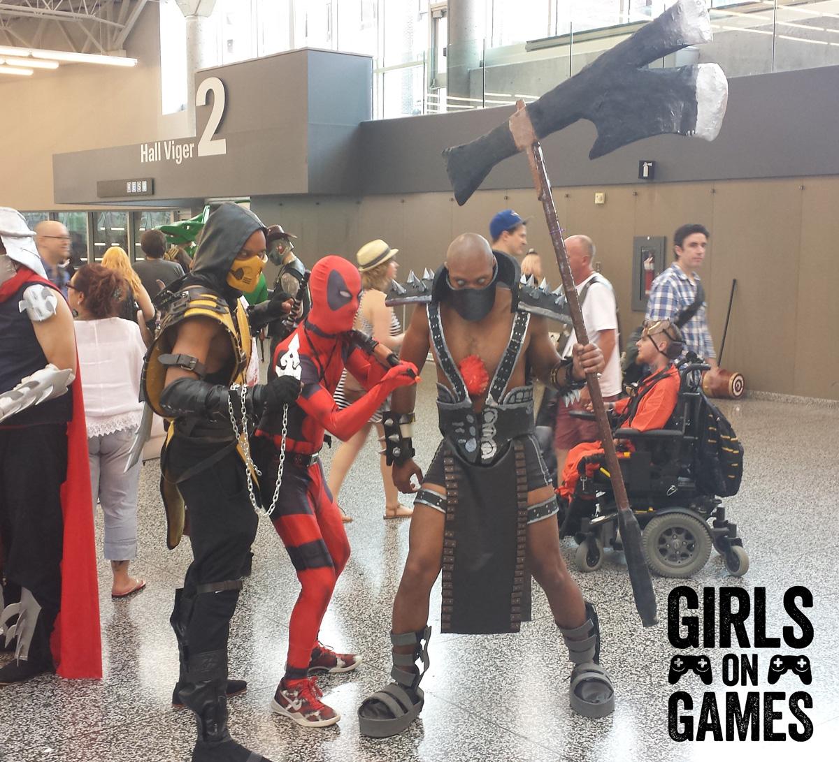 Deadpool and Mortal Kombat cosplay at Montreal Comiccon 2015. Photo © Nicholas MacDonald / Girls on Games