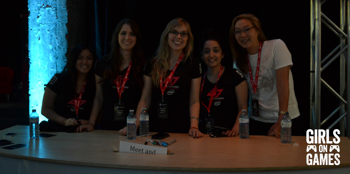 The ladies of Counter Logic Gaming Red at ESWC 2015