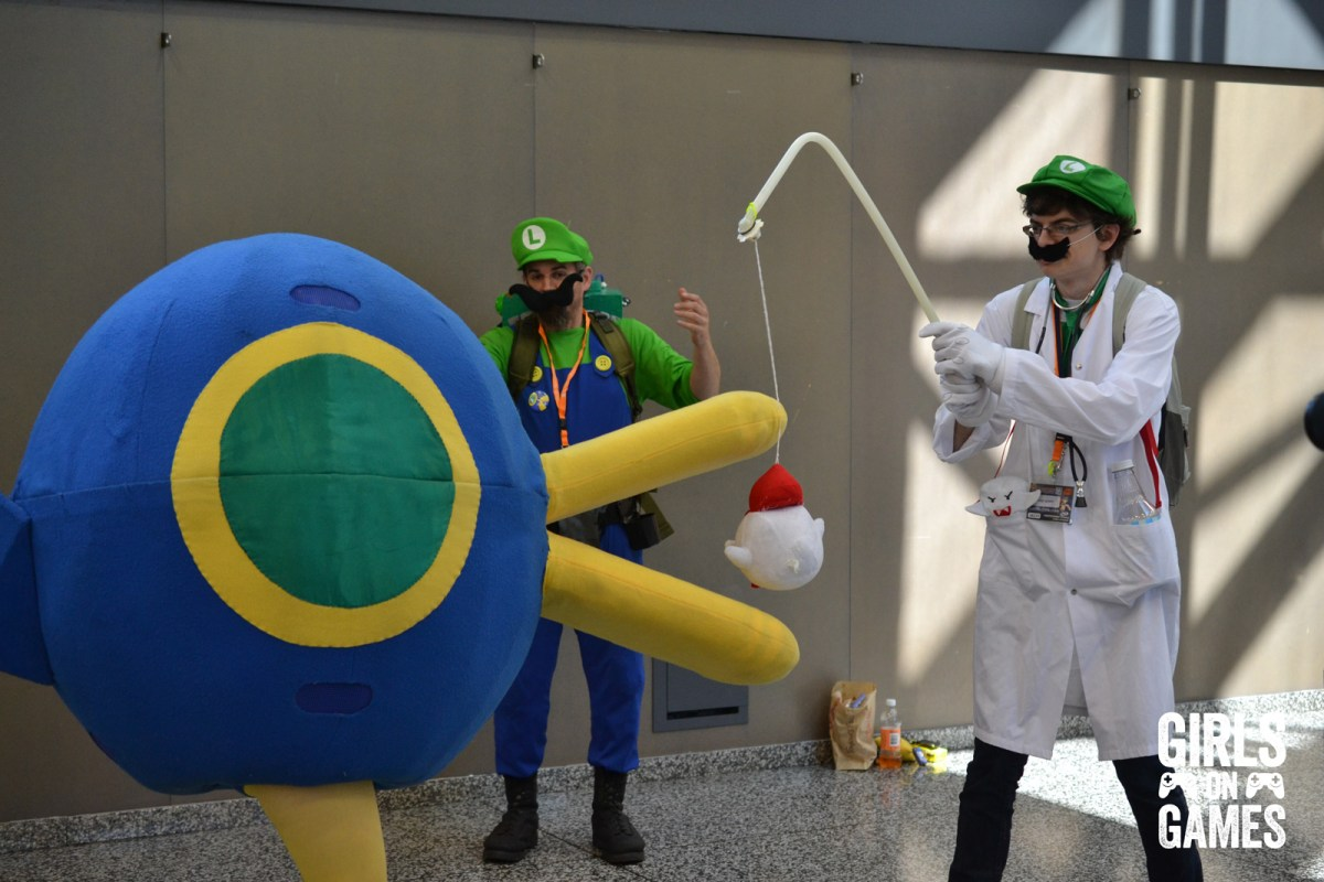 Dr Luigi and Luigi cosplay at Otakuthon 2015