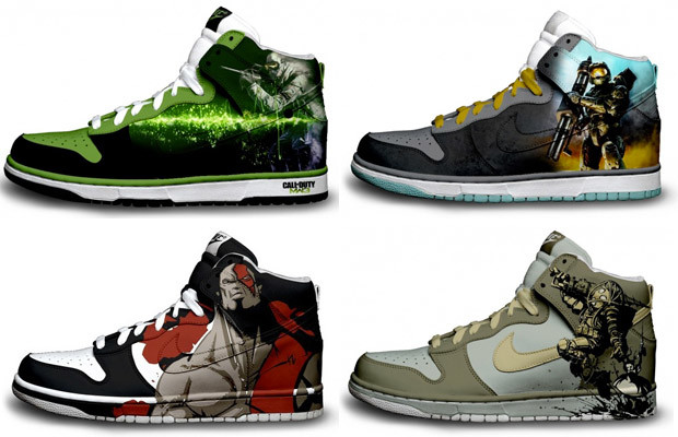 Call of Duty: Modern Warfare, Halo, God of War, and Bioshock sneakers by Brass Monki