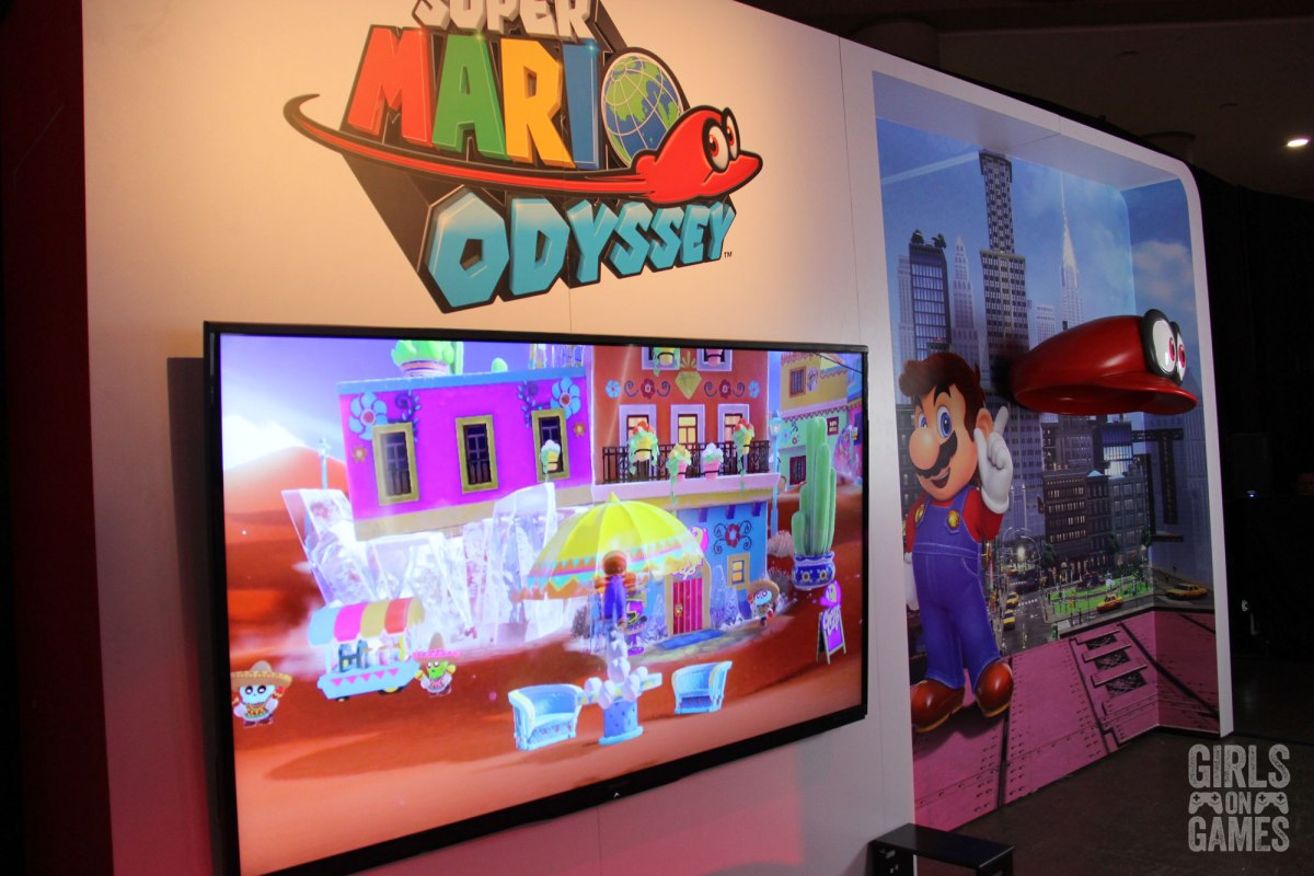 Super Mario Odyssey photo booth at the Nintendo Switch event in Toronto. Photo: Leah Jewer / Girls on Games