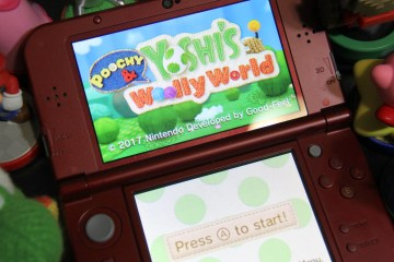 Poochy & Yoshi's Woolly World on Nintendo 3DS. (Photo: Leah Jewer / Girls on Games)