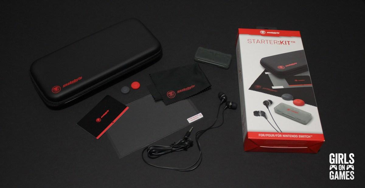 Snakebyte Nintendo Switch Starter:Kit what's in the box