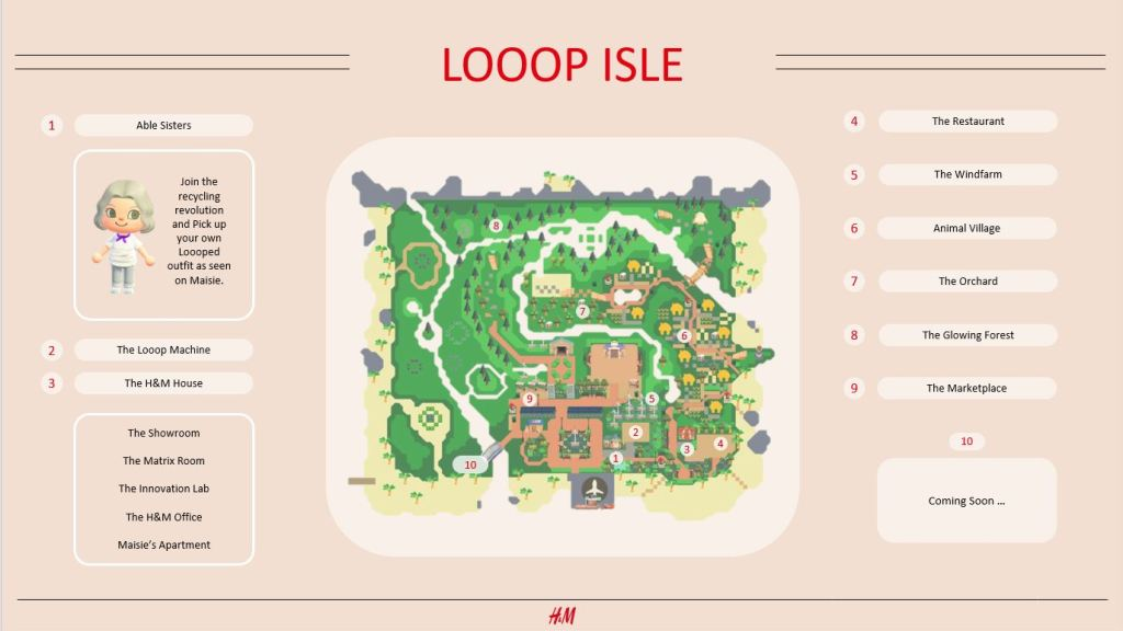 Map of Looop Isle. Image provided by H&M