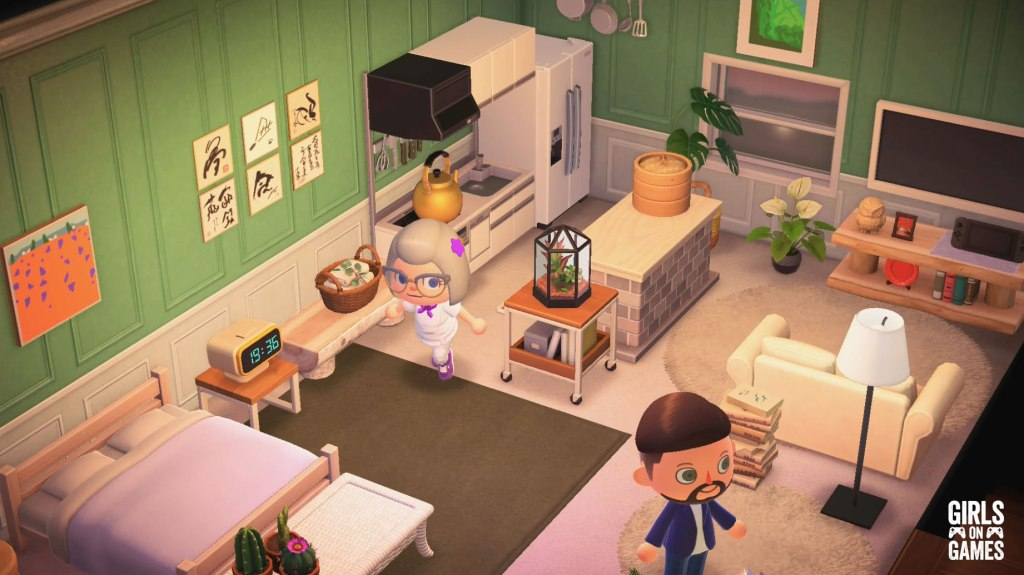 Just running around Maisie's apartment!