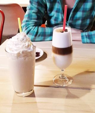 Milkshake de cocos și Latte