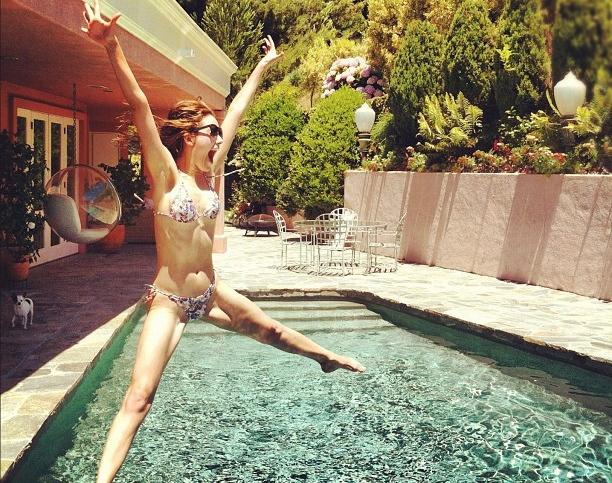 7 of the Best Celebrity Poolside Instagram Snaps  Girls Talkin Smack