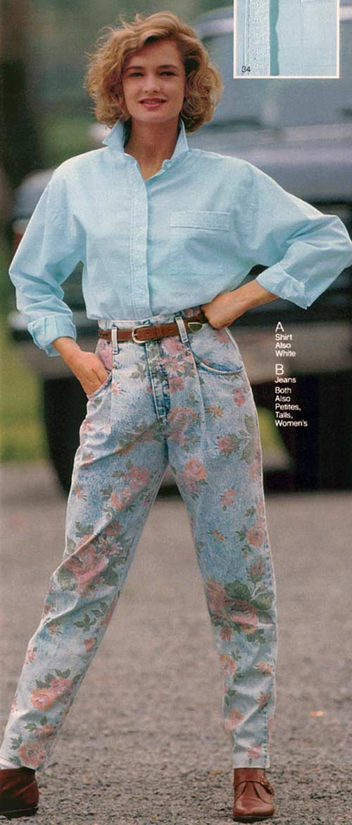 girls fashion from the early 90's  look at those jeans
