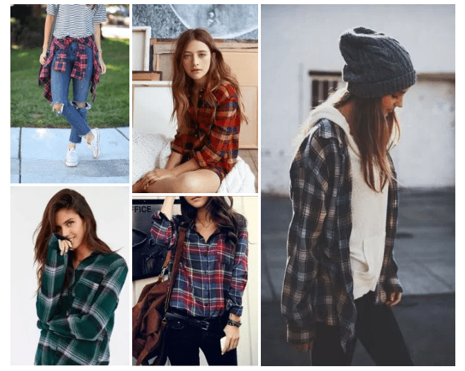 Teen Fashion, Grunge, Fall Winter Trends, Plaid Shirts