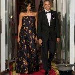 Michelle Obama State Dinner floral dress