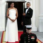 Michelle Obama white dress