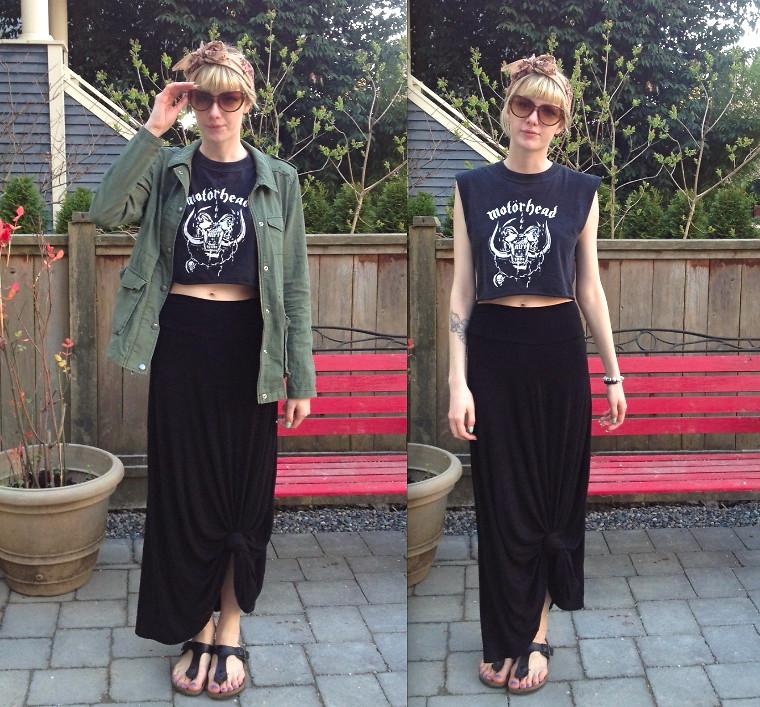 Maxi-Skirt and Tee