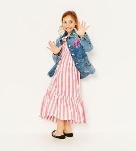maxi dress, boho style for tweens