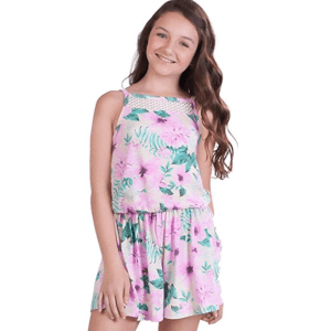 9f03ef0cb64 Tween Girls Sleeveless Floral Romper Jumpsuit