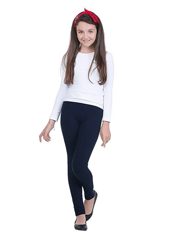 Teen Girl Leggings Color Tight Pants
