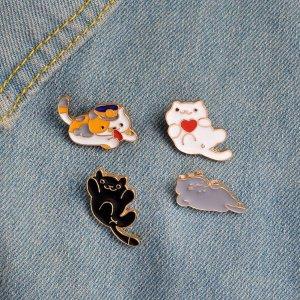 cute cats, kitties, kittens, enamel pins