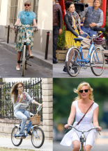 Celebrities on Bikes