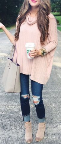 Leather Short Boots, Chunky Sweater