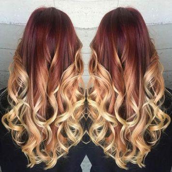 Red to Honey Blonde Bayalage