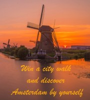 Win a city walk and discover Amsterdam by yourself!
