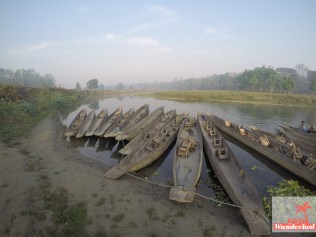 River safari at the Rapti river.