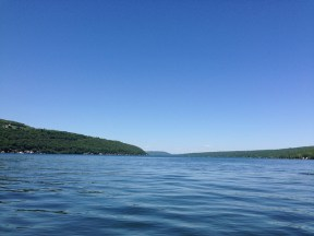 Kayaking on Keuka Lake