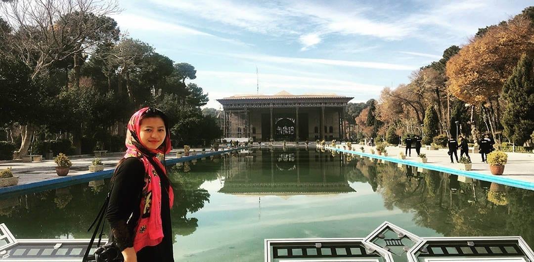 Girls Who Travel | Chehel Sotoun in Esfahan
