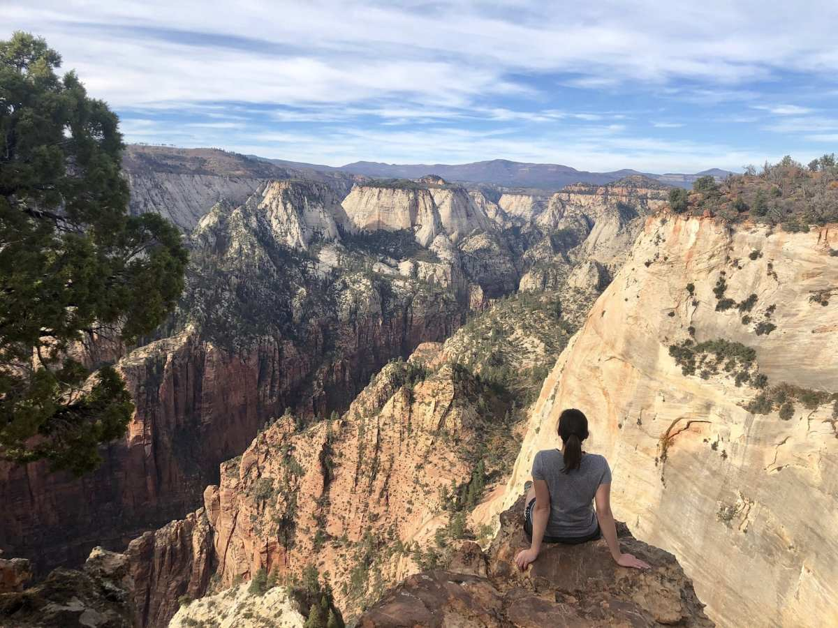 Resting at Zion's Observation Point
