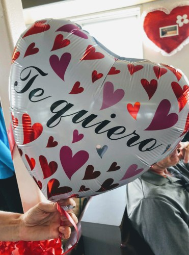 Girls Who Travel | Valentine's Balloons decorate the ferry in Nicaragua.