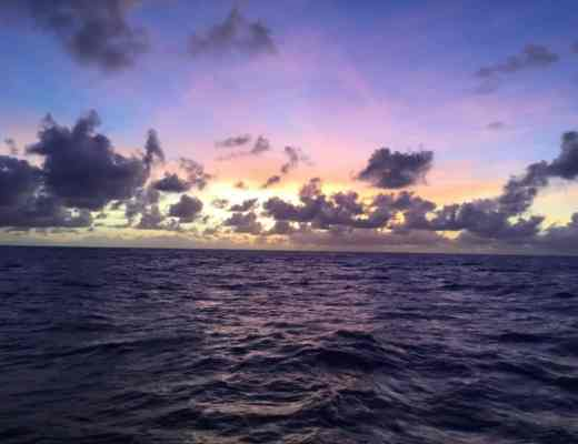 Girls Who Travel   Sunset at sea