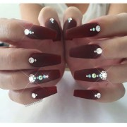 beautiful diamond nail art design
