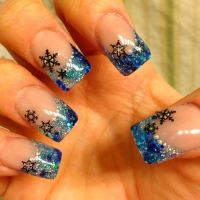 25 Snowflake Nail Designs For Christmas Eve!