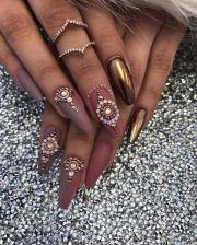 shiny chrome nails mirror