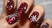 snowflake nail design christmas