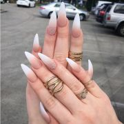 stunning pointy stiletto nails