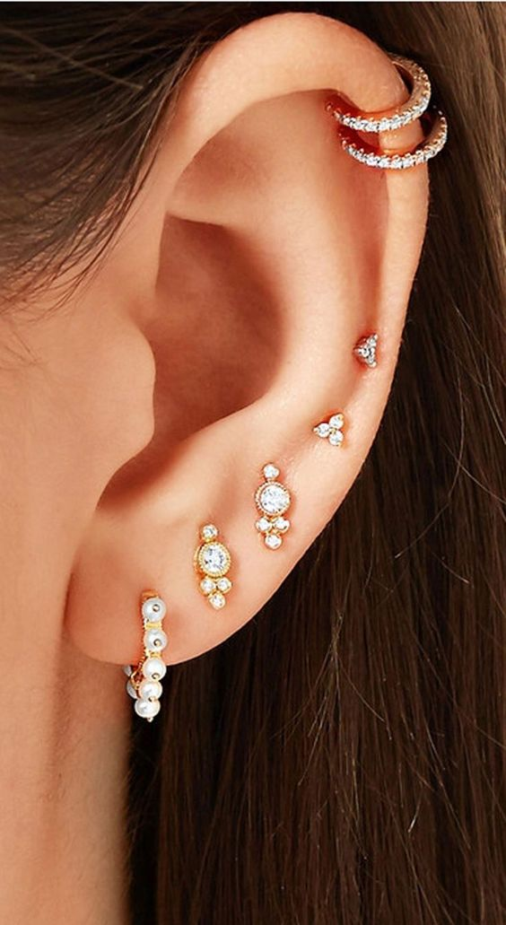Cute Ear Piercings Ideas For Girls