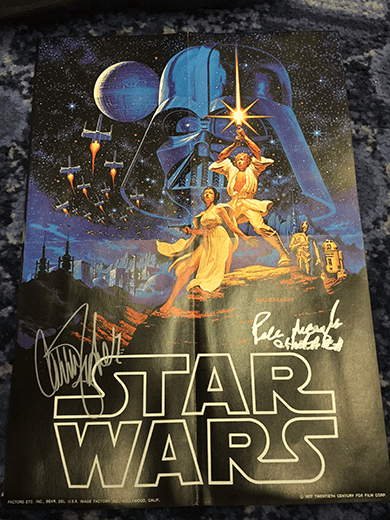 Autographed Star Wars Poster