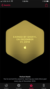 Perfect Month Award 1