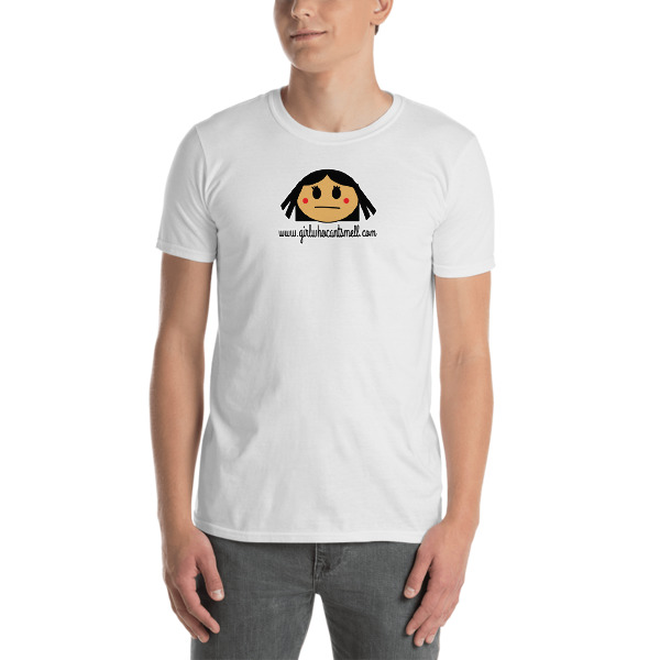Picture Of Girl Who Can't Smell Original Anosmia Short-Sleeve Unisex Tee in White