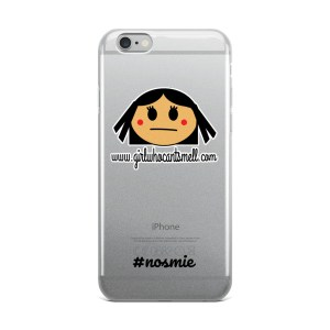 Girl Who Can't Smell Anosmia Original iPhone Case Clear
