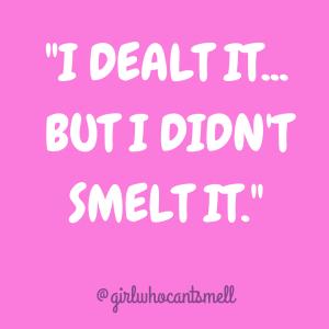 text pic saying I dealt it but I didnt smelt it