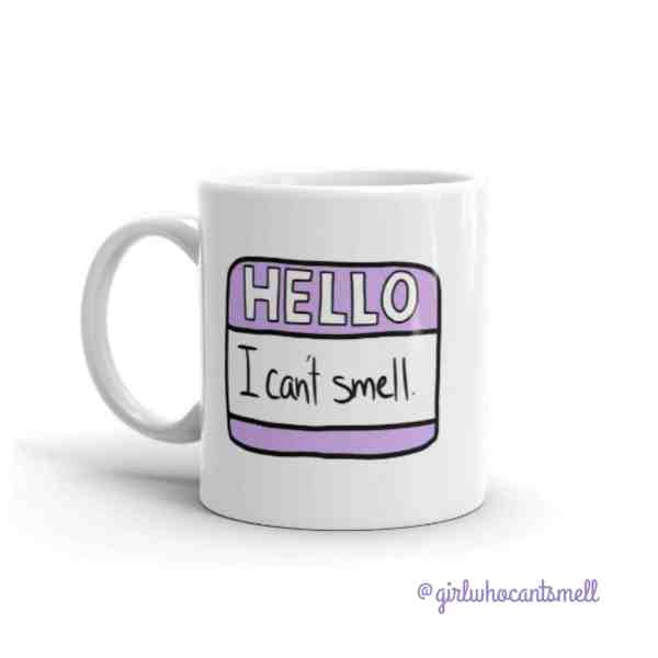 Hello I Cant Smell Name Tag Anosmia Mug For Sale By The Girl Who Cant Smell